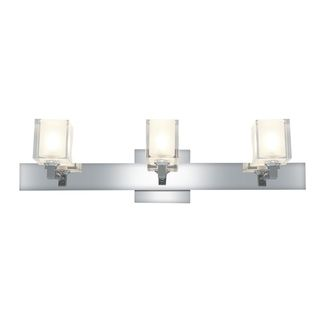 Access Glase 3 light Chrome Square Vanity Fixture