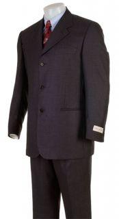 Louis DellOlio Mens Super 100 3 button Wool Suit