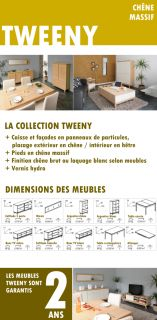 TWEENY Table extensible chêne 165/245cm   Achat / Vente TABLE A
