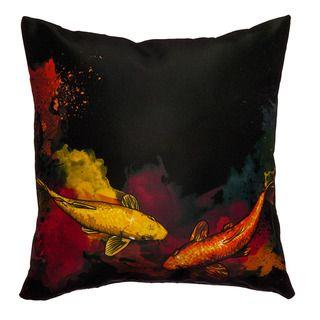 Maxwell Dickson Koi Fish Throw Pillow