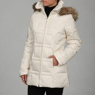 Jones New York Womens Faux fur Hooded Coat FINAL SALE