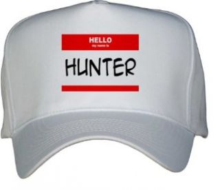 HELLO my name is HUNTER White Hat / Baseball Cap Clothing