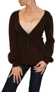 Cristi Conaway Cashmere Sweater in Chocolate Size S