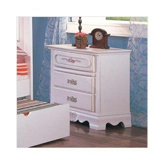 Sophie Romantic White Nightstand by Coaster Furniture