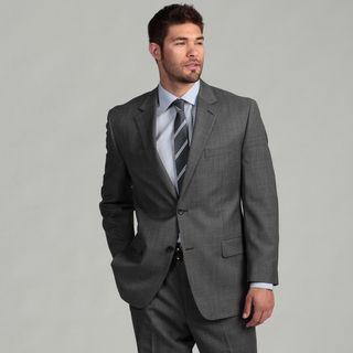 MICHAEL Michael Kors Mens Grey Sharkskin Suit