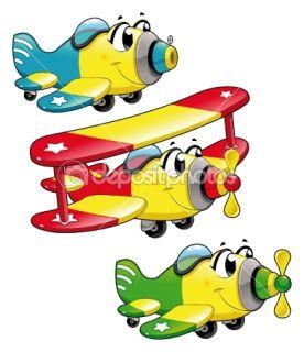 Cartoon airplanes.  Stock Vector © Danilo Sanino #9794624