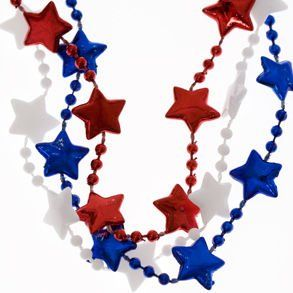 Patriotic Star Bead Necklaces Toys & Games