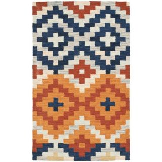 Hand hooked Chelsea Southwest Multicolor Wool Rug (29 x 49