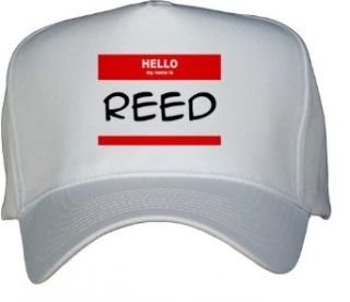 HELLO my name is REED White Hat / Baseball Cap Clothing