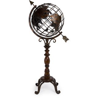 Iron Old Spanish Mission Floor Globe