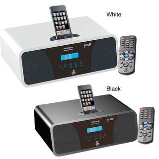 Pyle High Performance White AM/FM Clock Radio with iPod/ iPhone Dock