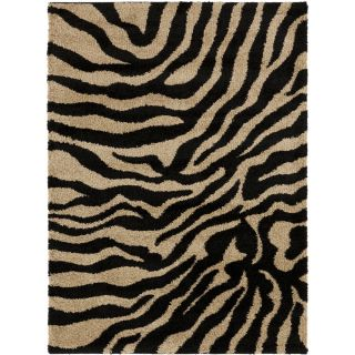 Meticulously Woven Black/White Zebra Aquila Animal Print Rug (2 x 3