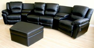 Krikorian 100 percent Leather Theater Seating Sofa