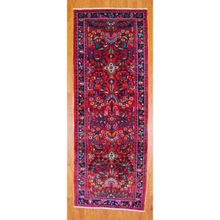 Persian Hand knotted Red/ Blue Hamadan Wool Rug (4 x 107