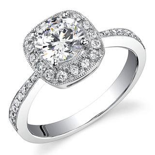 18k White Gold 3/4ct TDW Diamond Engagement Ring (H, SI1 SI2