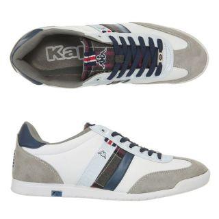 Modèle Serafini. Coloris  blanc, gris et bleu. Baskets KAPPA homme