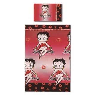 Betty Boop Red Black Duvet/Quilt Cover Bedding Set (Twin