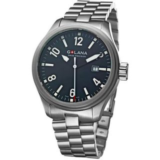 Golana Swiss Mens Terra Pro 100 Black Dial Stainless Steel Watch