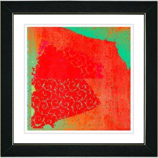 Studio Works Modern Spring Fever   Green Framed Print