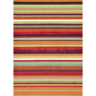 Albus Multi Stripe Rug (77 x 105)