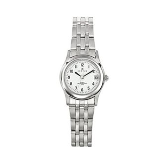 Certus Paris Womens Stainless Steel White Dial Date Watch