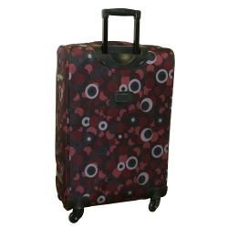 American Flyer Red Art Deco 5 piece Spinner Luggage Set