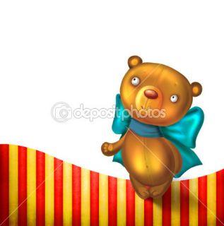 Teddy bear cartoon background  Stock Photo © Ирина