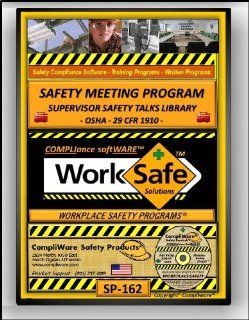 SP 162   SUPERVISORS SAFETY MEETINGS RESOURCE LIBRARY