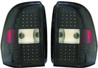 Chevy Trailblazer Replacement Tail Light Assembly (LED Black)   1 Pair