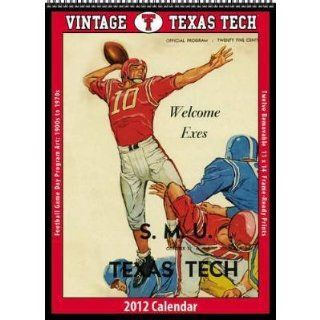 Vintage Texas Tech Football 2012 Wall Calendar Office