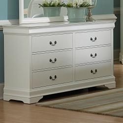 Alfie White 6 drawer Dresser with Mirror