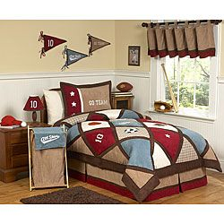 Sweet JoJo Designs Blue/ Brown 4 piece Twin size Comforter Set Today