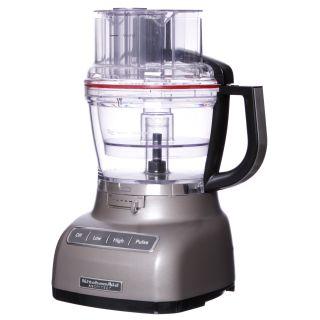 KitchenAid RRKFP1344CS Cocoa Silver 13 cup Food Processor (Refurbished
