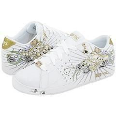 Red by Marc Ecko Phlirtatious White/Silver/Gold Athletic