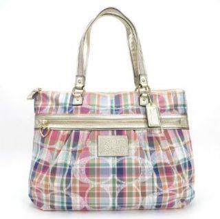 Coach Daisy Madras Glam Shopper Bag Purse Tote Multi