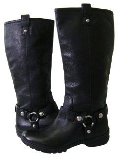 Coach Dafney Smith Full Grain Leather Black Boots Shoes