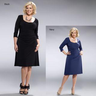 Kiyonna Clothing Womens Plus Size Flaunt Cocktail Dress
