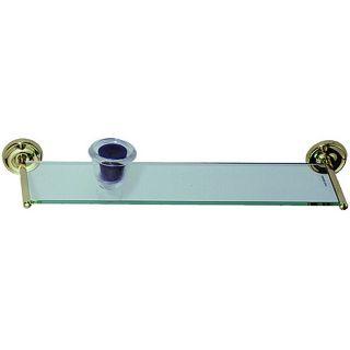Elizabethan Classics Polished Brass Glass Vanity Shelf Today $58.59