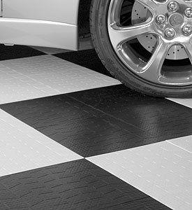 Garage Floor Tiles Tire Tread Black