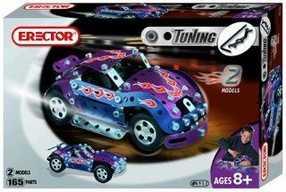 Erector Tuning Race Car, 165 Parts: Toys & Games