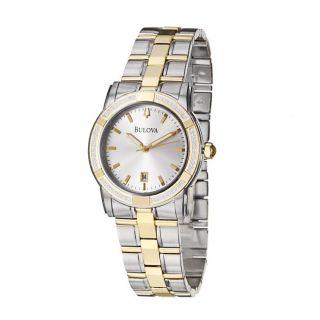 Bulova Mens Diamonds Two tone Stainless Steel Quartz Diamond Watch