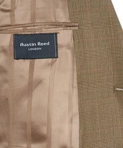 Austin Reed London Olive Glen Plaid Wool Suit