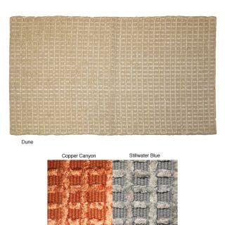 Chenille Grid Cotton Bath/ Area Rug (18 x 210)