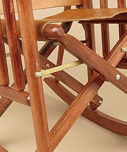 Handcrafted Leather/Wood Rocking Chair (Costa Rica)