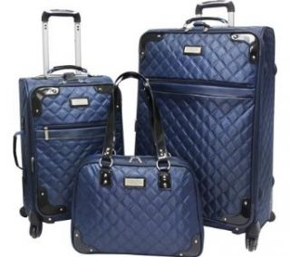 Beverly Hills Country Club 3 Piece Quilted Spinner Luggage