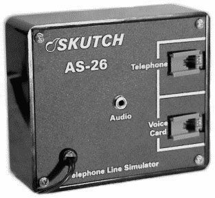 Skutch AS 26 Bi Directional Telephone Single Line Simulator