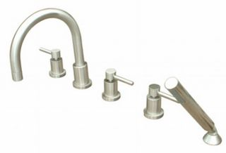 Concord Euro Roman Tub Filler and Handshower Set