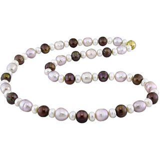 Miadora New York Pearls Multi colored FW Pearl Necklace (8 9 mm)