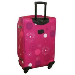 American Flyer Pink Fireworks 5 piece Spinner Luggage Set