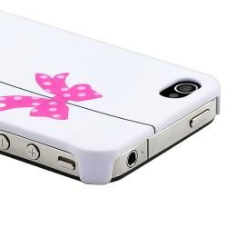 White/ Bird Cage Snap on Rubber Coated Case for Apple iPhone 4/ 4S